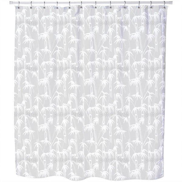 Ink Bamboo Shower Curtain