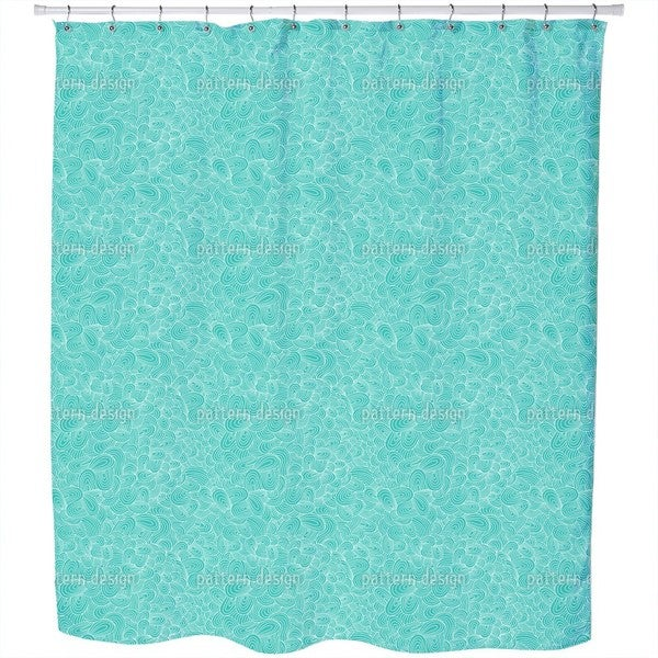 Ocean Tongues Shower Curtain