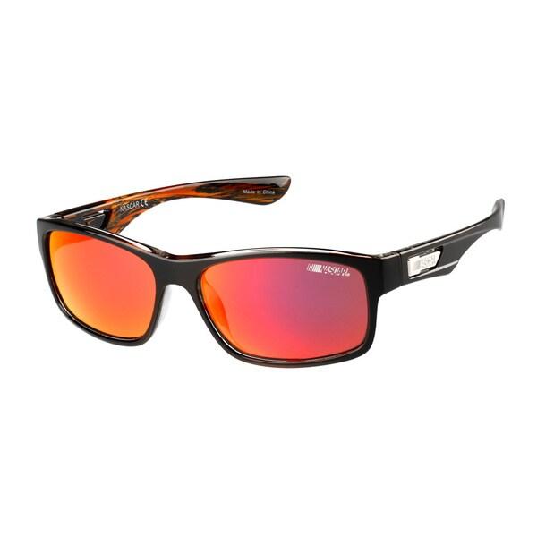 NASCAR Sunglasses Unisex 6 Blue Amber Crystal