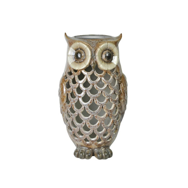 Moonrays Owl Solar Light Tan
