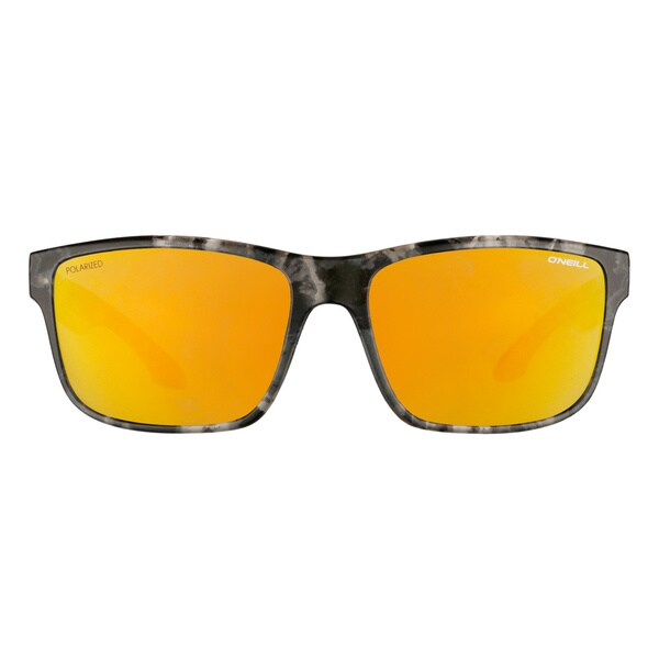 O'Neill Matte Black Dye Gold Mirror Sunglasses
