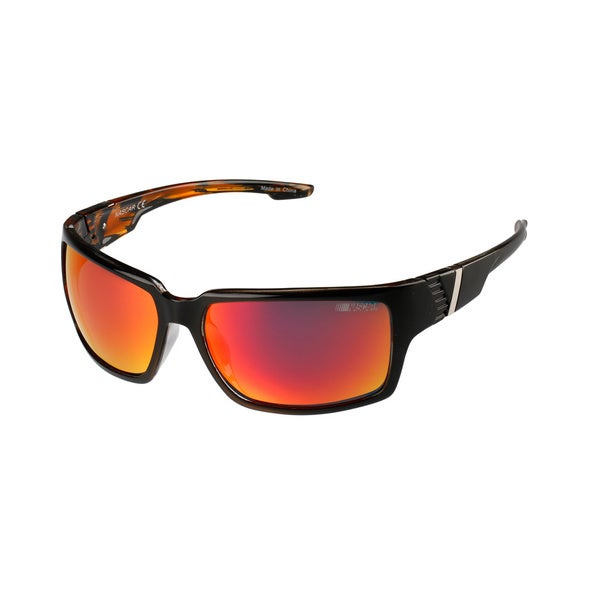 NASCAR Polar Sunglasses Mens 8 Black Amber