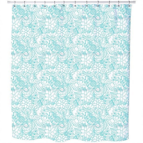 In The Garden of The Snow Queen Shower Curtain