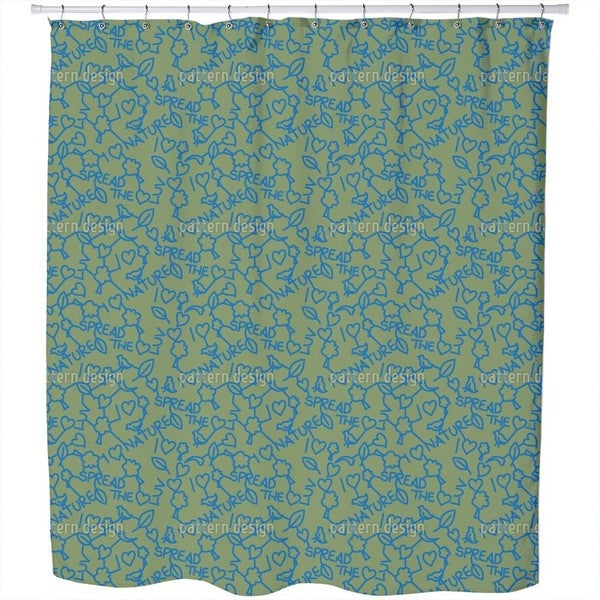 I Love Nature Shower Curtain