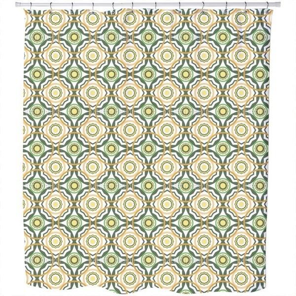 Greek Shields Shower Curtain