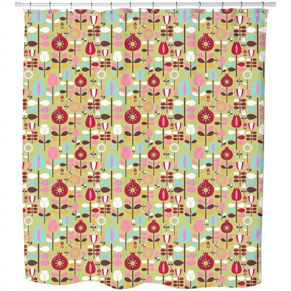 Garden of The Seventies Shower Curtain