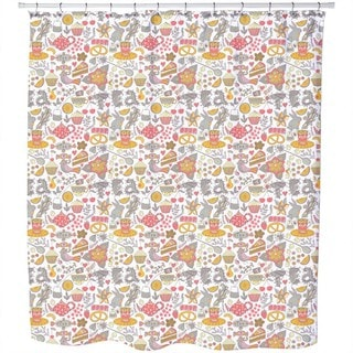 Funny Tea Party in Wonderland Shower Curtain