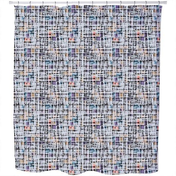 Pastel Pop Art Patchwork Shower Curtain