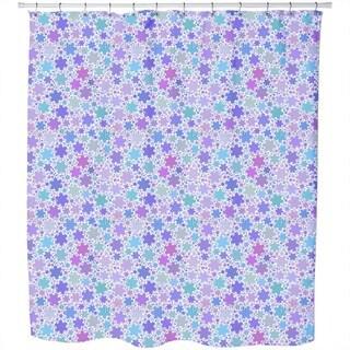 Fractal Snowflakes Shower Curtain