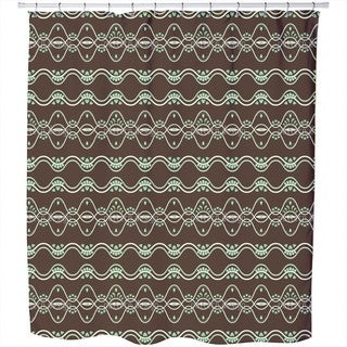 Folkloria Mint Shower Curtain