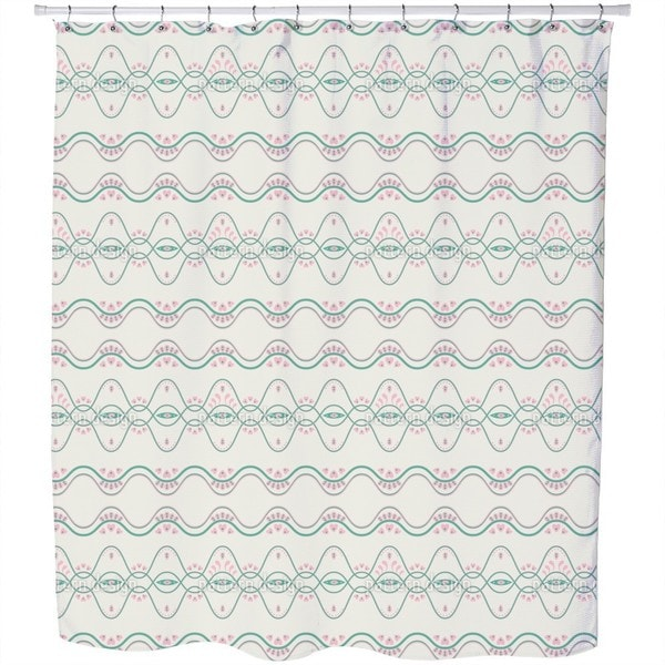 Folkloria Cream Shower Curtain