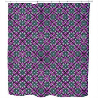 Folklore Flowers To The Square Shower Curtain
