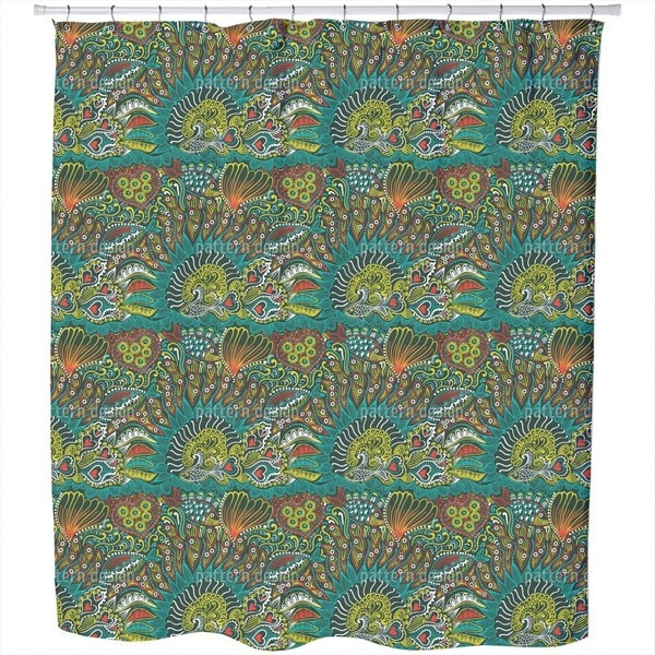 Reefgarden of The Ocean King Shower Curtain