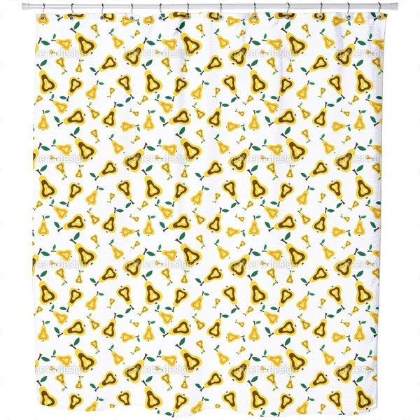 Pear Conspiracy Shower Curtain