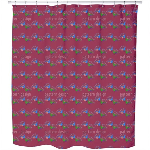Peacocks Dance Shower Curtain