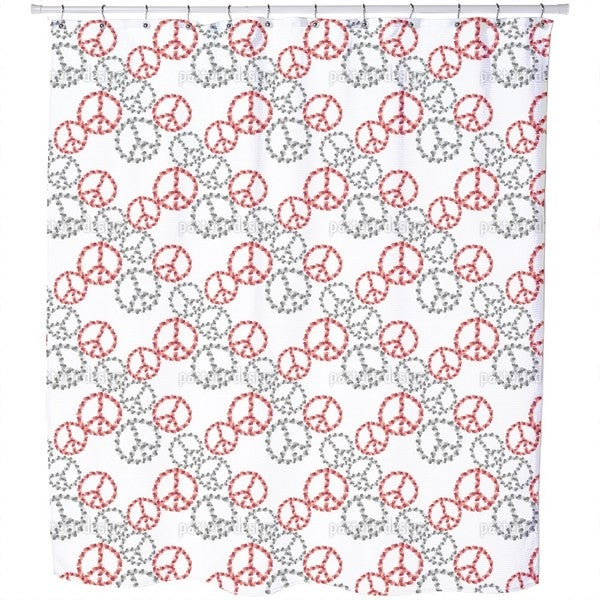 Peace Revival White Shower Curtain