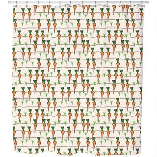 Patch of Carrots Shower Curtain