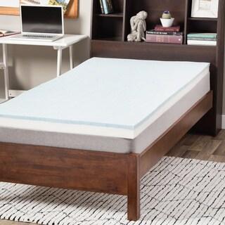 Select Luxury Dorm 3-inch Gel Memory Foam Flippable Mattress Topper