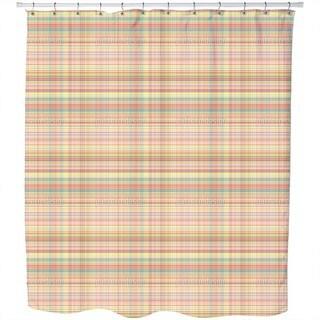 Multicolor Weave Shower Curtain