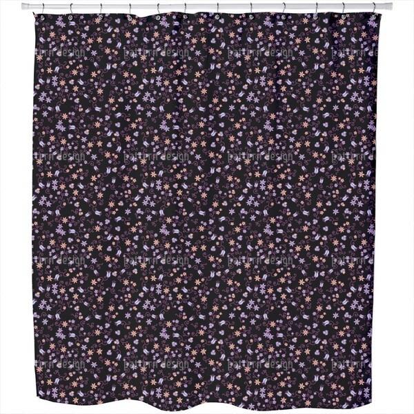 Mille Fleurs Noir Shower Curtain
