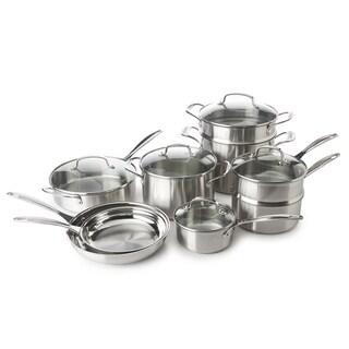 Cuisinart CLCS-14 Chefs Classic Stainless Steel 14-Piece Cookware Set
