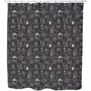 Leisure Fun with Chalks Shower Curtain