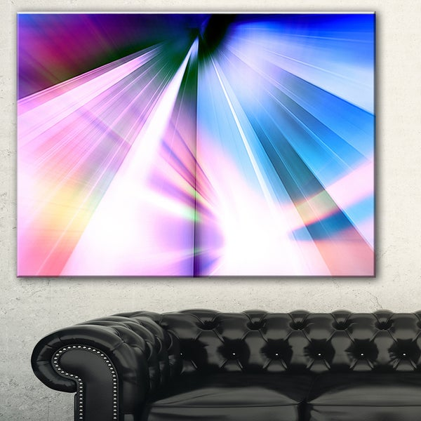 Designart 'Rays of Speed Blue' Abstract Digital Art Canvas Print 18011227