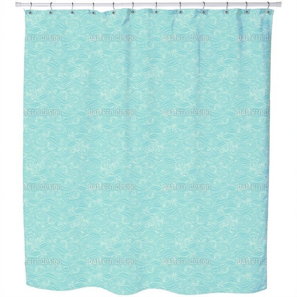 Lagoon Swell Shower Curtain
