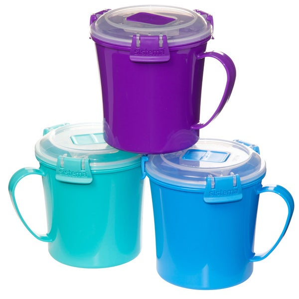 Sistema To Go Soup Mugs 22oz 3pk