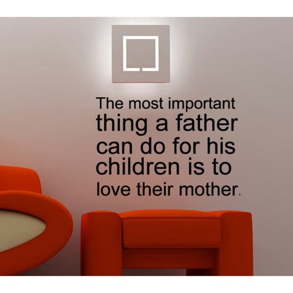 The Most Important Thing A Father Can Do quote Wall Art Sticker Decal