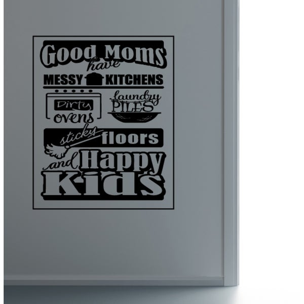 Good Moms Happy children Wall Art Sticker Decal