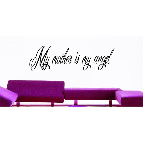 My mum is my angel Wall Art Sticker Decal