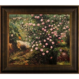 Vincent Van Gogh 'Rosebush in Blossom' Hand Painted Canvas Art
