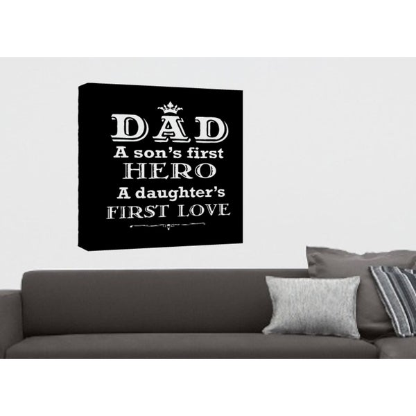 Book Dad Son's Hero and Daughter's Love Wall Art Sticker Decal