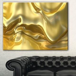 Designart 'Golden Cloth Texture' Abstract Digital Art Canvas Print
