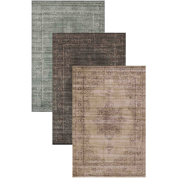 Admire Home Living Corina Medallion Area Rug (2'2 x 7'7)