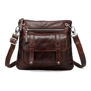 Vicenzo Leather Ella Distressed Leather Crossbody Handbag