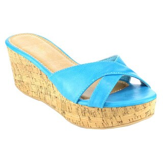 Fashion Focus Women's Cork Slide Sandals