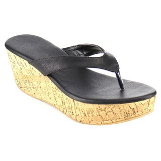 Fashion Focus Women's Thong Cork Sandals