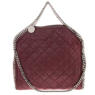 Stella McCartney Falabella Shaggy Deer Quilted Fold-Over Tote