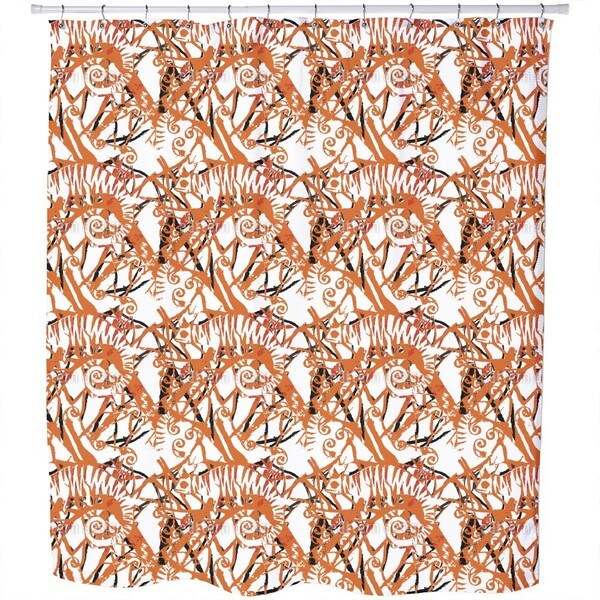 Chameleon Orange Shower Curtain