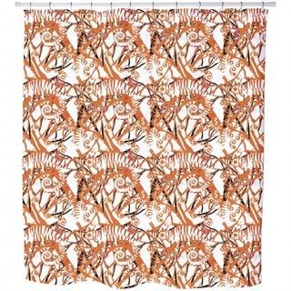 Chameleon Orange Shower Curtain