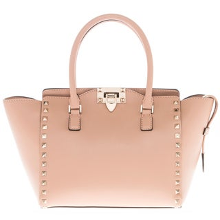 Valentino Small Rockstud Smooth Leather Double Handle Bag