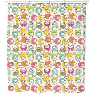 Cat King and Friends Shower Curtain
