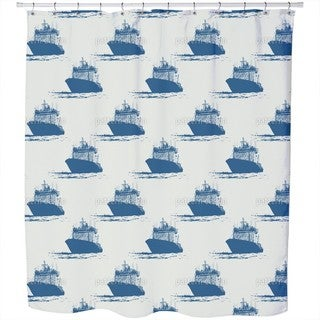 Cast Off Nautical Shower Curtain