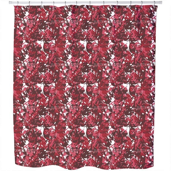 Camouflage Red Shower Curtain