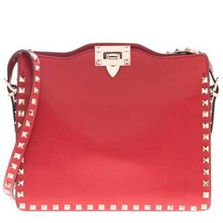 Valentino Red Rockstud Hobo Bag