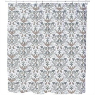Bon Apart Grey Shower Curtain