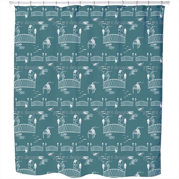 Boardwalks To The Kitten Bridge Shower Curtain