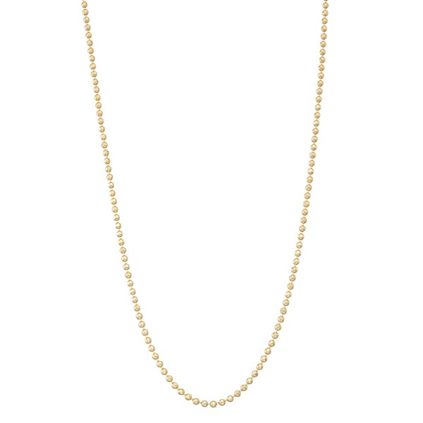 Gioelli 14k Gold Ball Necklace